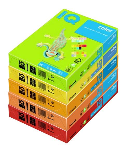 14 Бумага IQ COLOR цветная, ассортимент (неон и пастель) А4, 80г, 500л