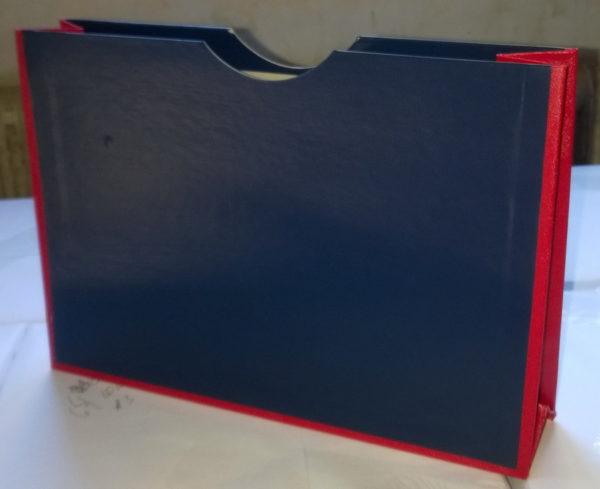30 Папка-карман архивная, А4, бумвинил цветной, корешок 120-150мм