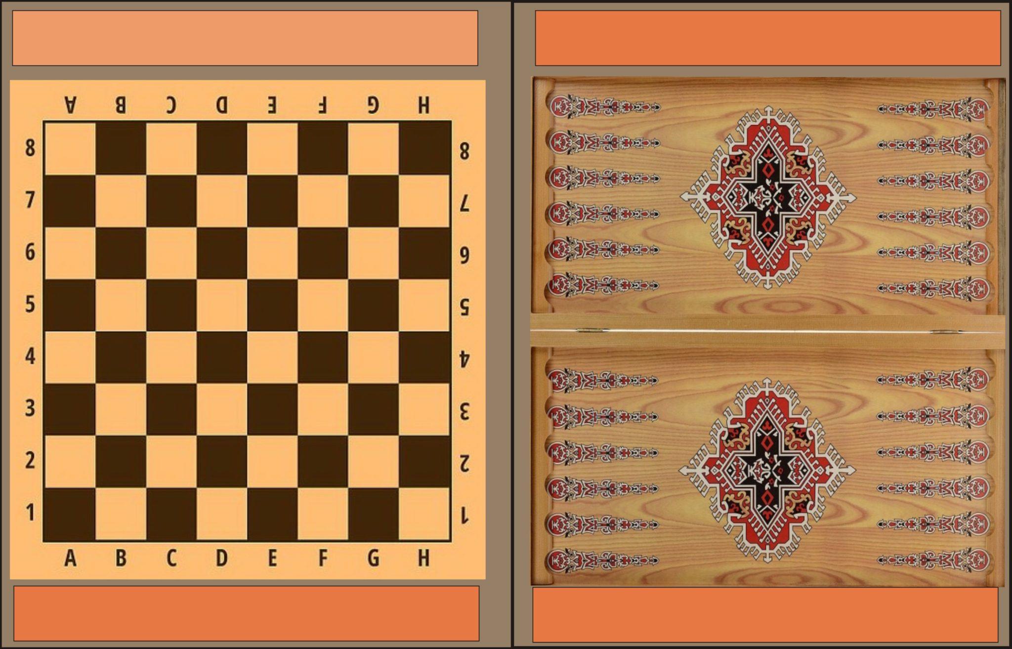 Комплект настольных игр (шахматы, шашки и нарды) магнитные