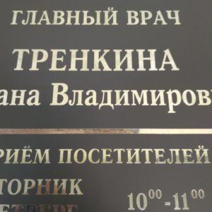 табличка на дверь