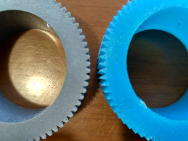 ролики синие
